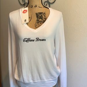 NWT WILDFOX caffeine dream sweat shirt.